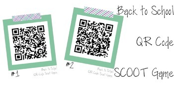 Back to School QR Code Task Cards