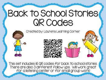 Back to School Stories QR Codes