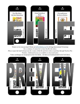 Back to School QR Codes- NO YOUTUBE- eBook Videos