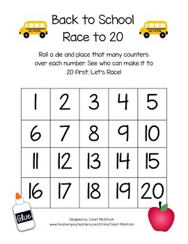 Back to School Race to 20