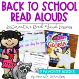 Back to School Read Alouds: First Week of School Activities