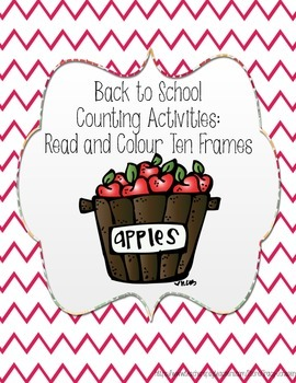 Back to School Read and Colour Ten Frames
