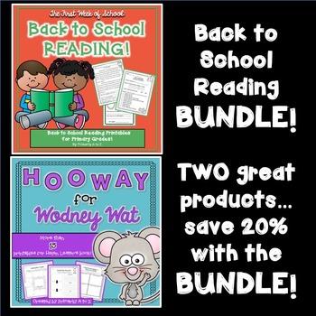 Back to School Reading BUNDLE!