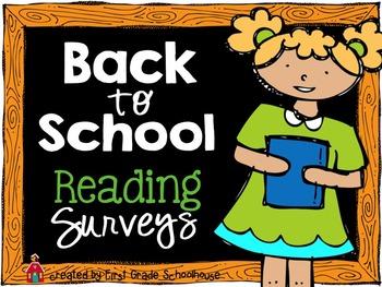 Back to School Reading Surveys