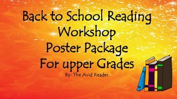 Back to School Reading Workshop for Upper Grades