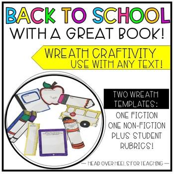 Back to School Reading Wreath Craftivity {Use any fiction