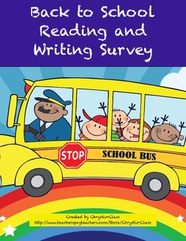 Back to School Reading and Writing Survey