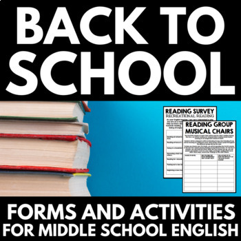 Back to School Resources for Middle School English - Forms