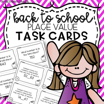 Back to School Review Task Cards - Numeration