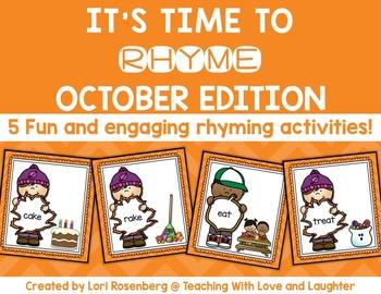 October Rhyming Activities