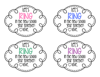 Back to School Ring Pop Tag