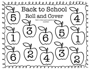 Back to School Roll and Cover