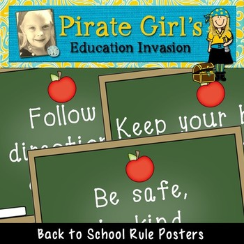 Back to School Rule Posters