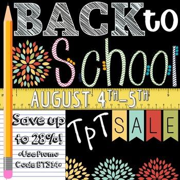 Back to School Sale Flyer 2014 *FREEBIE*