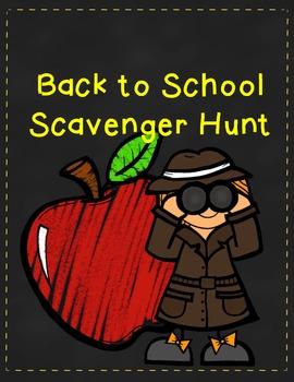 Back to School Scavenger Hunt