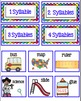 ABC Order and Syllable Center School Theme