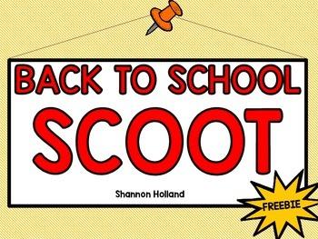 Back to School Scoot {FREEBIE}