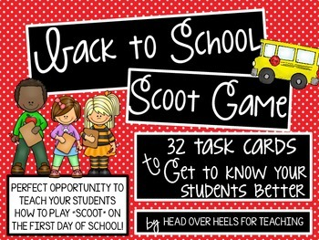 Back to School Scoot Game {Task Cards}