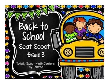 Back to School Seat Scoot Grade 3