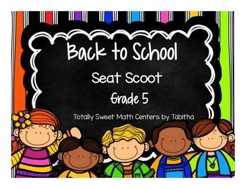 Back to School Seat Scoot Grade 5