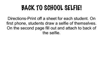 Back to School Selfies
