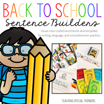 Back to School Sentence Builders {Writing, Language, & Com
