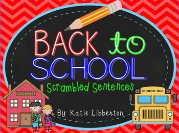 Back to School Sentence Scrambles for ActivInspire
