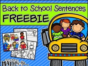 Back to School Sentences FREEBIE