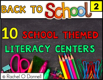 Back to School September Literacy Centers Second Grade
