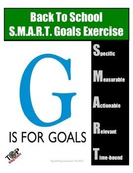 Back to School FREEBIE Setting SMART Academic Goals Exercise