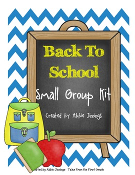 Back to School Small Group Activities