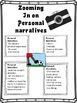 BACK TO SCHOOL - Personal Narrative Writing