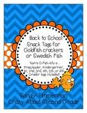 Back to School Snack Tags {O-Fish-Ally a ......Preschooler