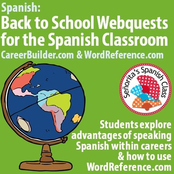 Back to School - Spanish Webquest BUNDLE! WordReference.co