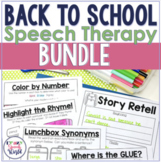 Back to School Speech Therapy Bundle!