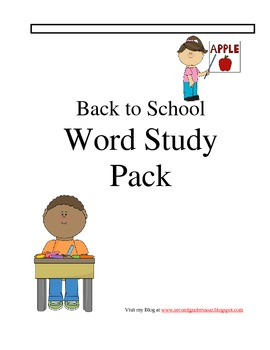 Back to School Spelling pack