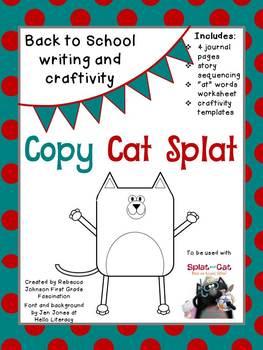 Back to School, Splat Writing and Craftivity