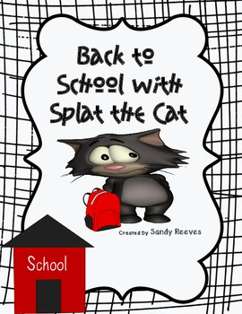 Back to School, Splat! Common Core Aligned