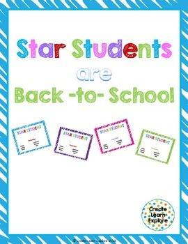 Back-to-School Star Students