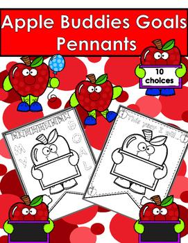 Back to School/Starting School Pennants/Banners - Apple Buddies