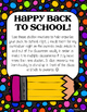 Back to School Stations for Parents