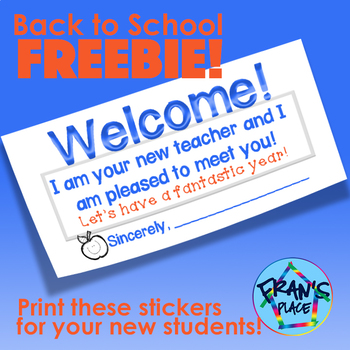 Back to School Sticker Freebie! {Print on labels}