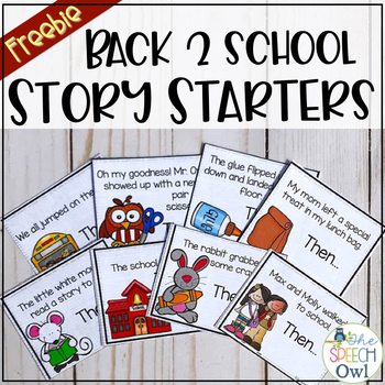 FREEBIE: Back to School Story Starters