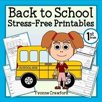 Back to School NO PREP Printables - First Grade Common Cor