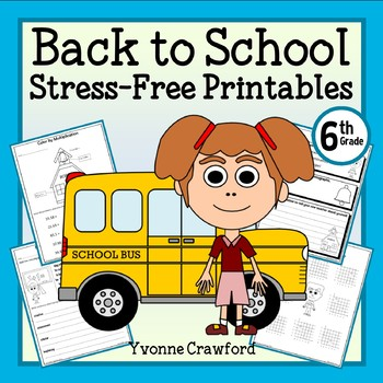 Back to School NO PREP Printables - Sixth Grade Common Cor
