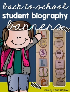 Back to School Student Biography Banners