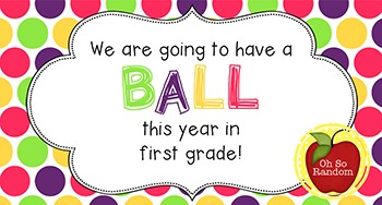 Back to School Student Gift Tag | Ball (1st Grade)