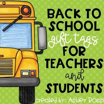 First Day of School Student Gift Tags
