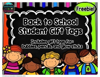 Back to School Student Gift Tags {Freebie!}