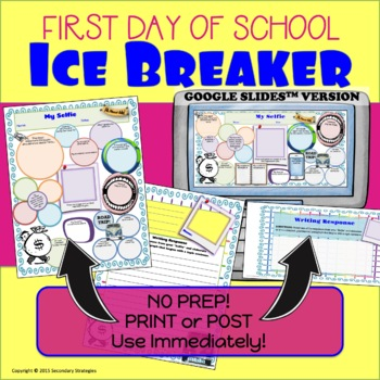 First Day of School Ice Breaker {Student Information Activity}